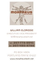 corporate identity William-Eldridge-BizCard